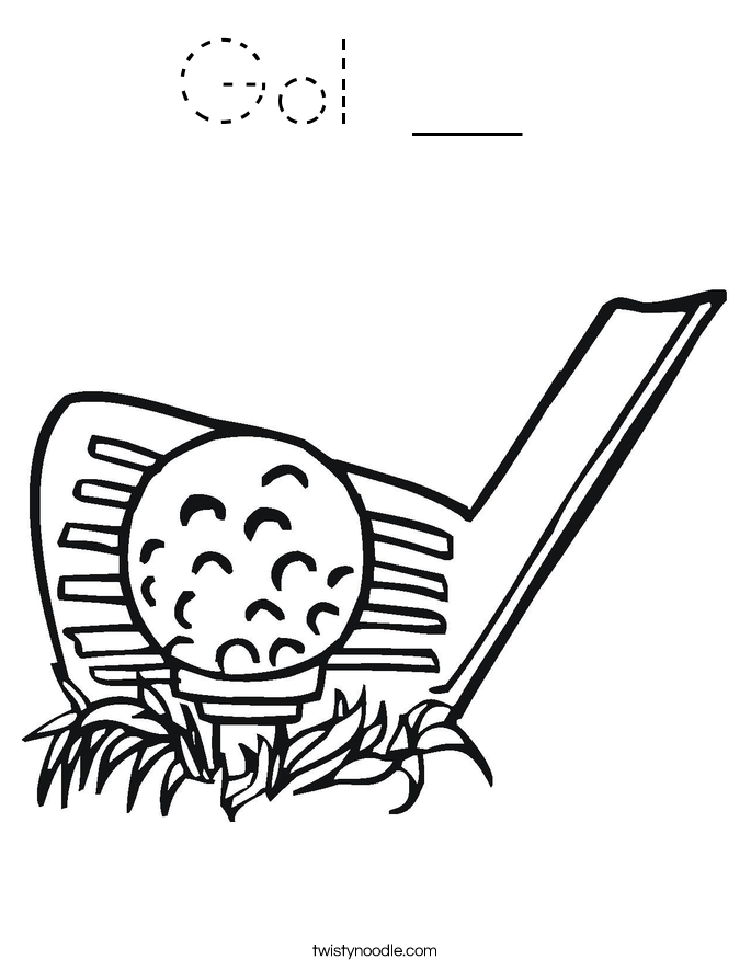 Gol __  Coloring Page