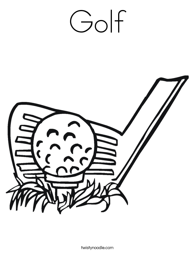 coloring book pages golf clubs - photo#9