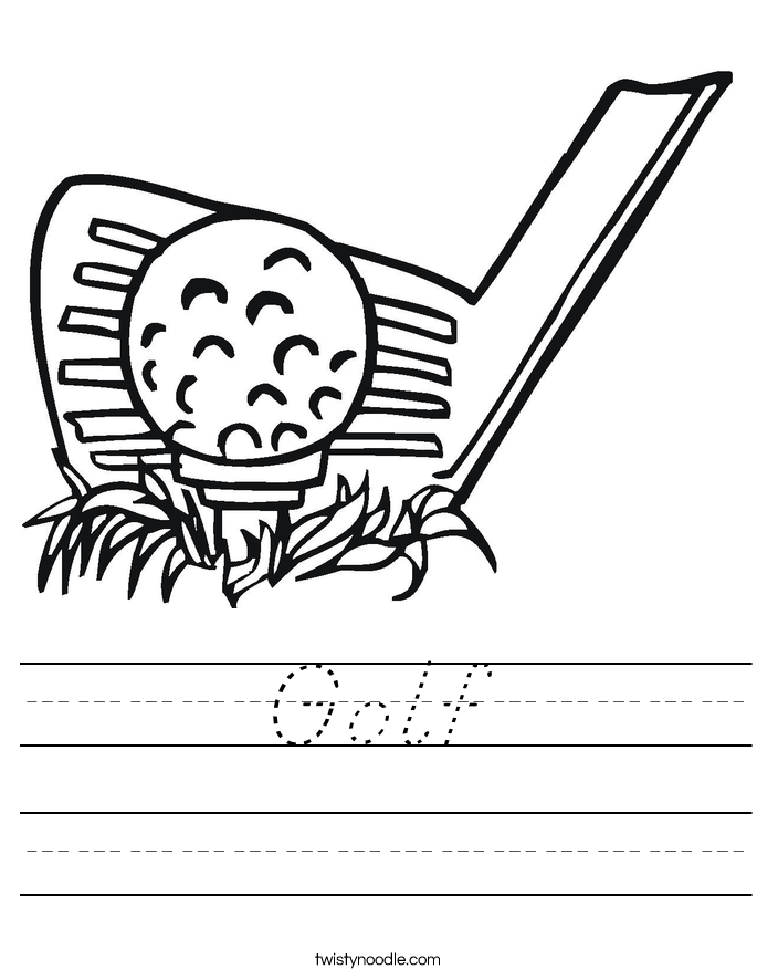 Golf Worksheet