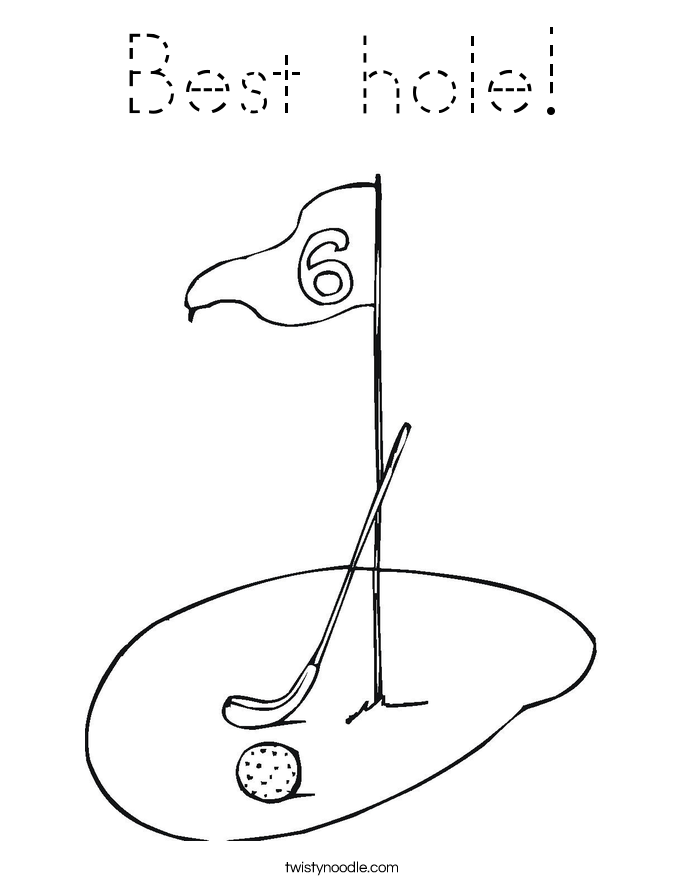 Best hole! Coloring Page
