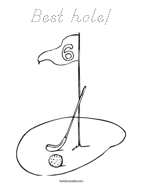 Golf Course Coloring Page