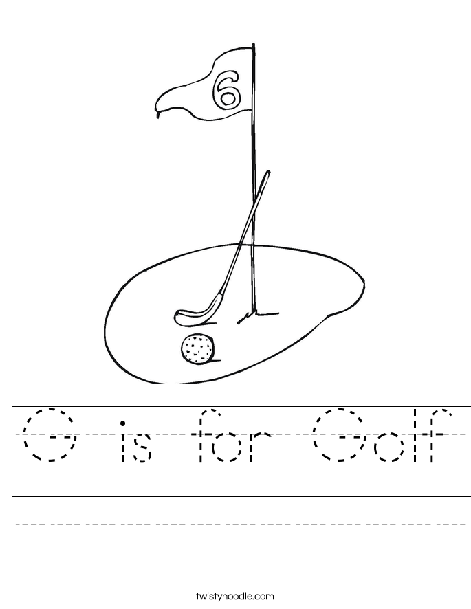 G is for Golf Worksheet