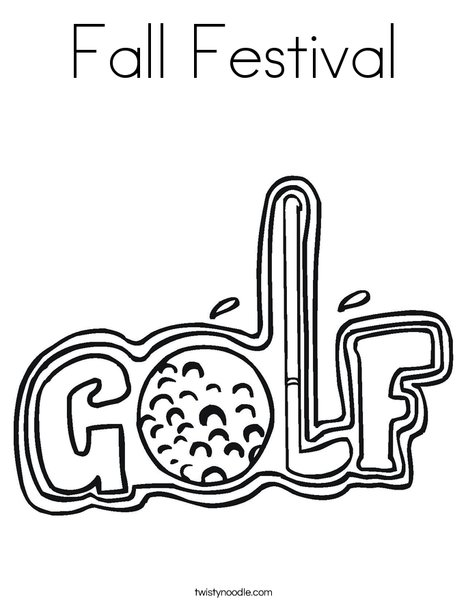 Golf Sign Coloring Page
