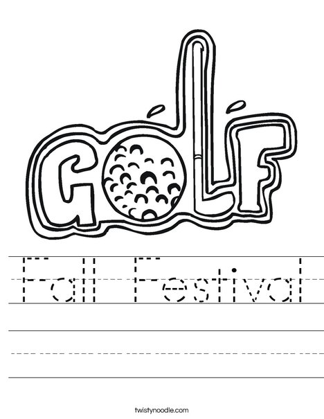 Golf Sign Worksheet
