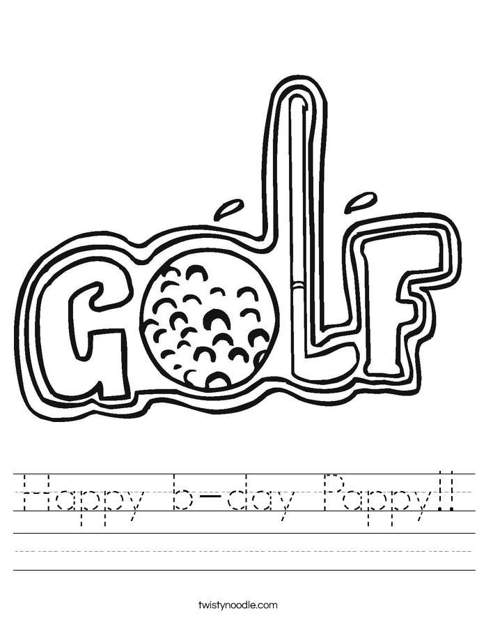 Happy b-day Pappy!! Worksheet
