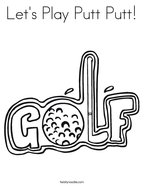 Let's Play Putt Putt Coloring Page