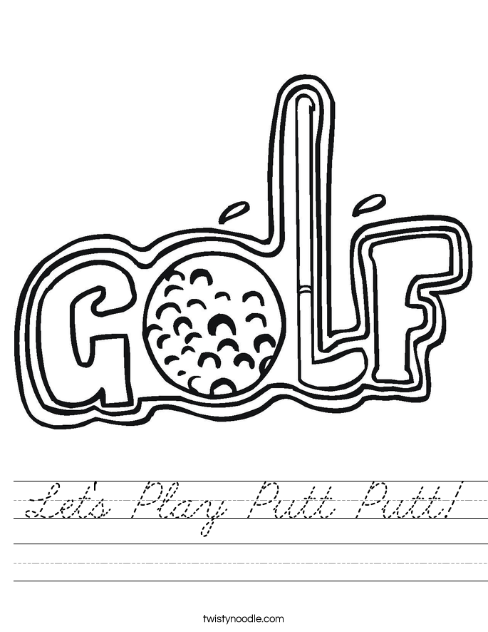 Let's Play Putt Putt! Worksheet