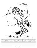 Daddy - World's Best Golfer! Worksheet