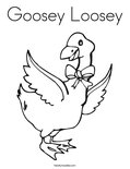 Goosey Loosey Coloring Page