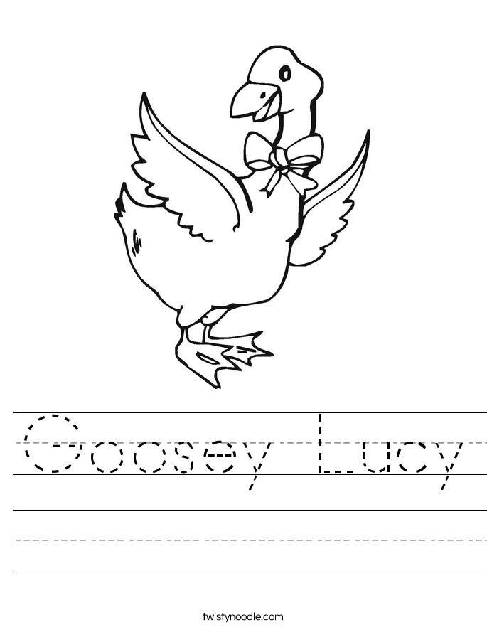 Goosey Lucy Worksheet