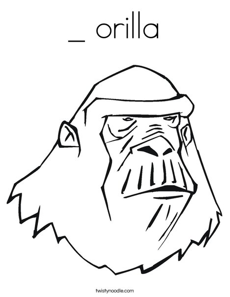 Ape Coloring Page