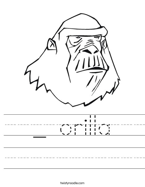 Ape Worksheet