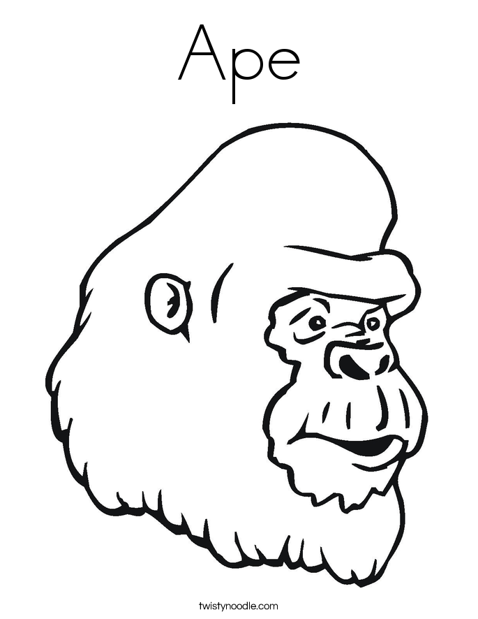 ape coloring pages printable - photo#1