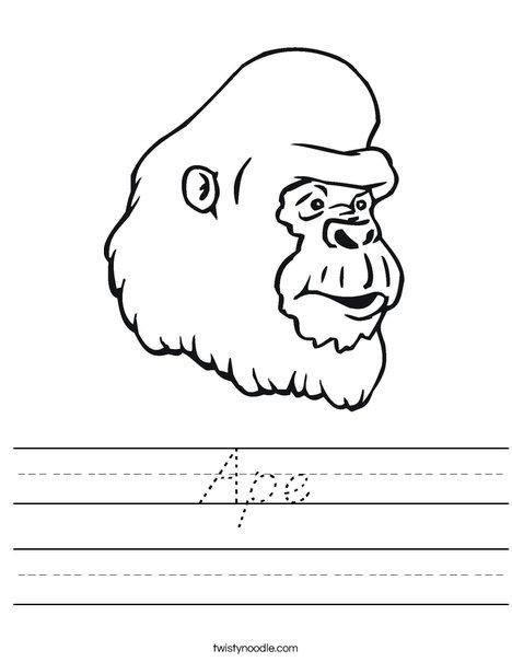 Gorilla Head Worksheet