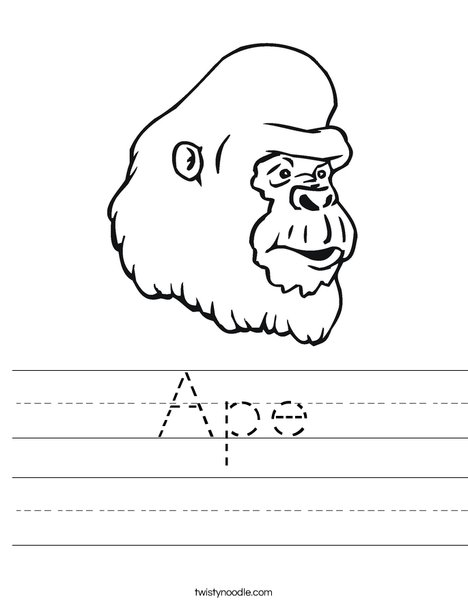 Gorilla Head Worksheet