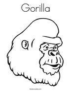 i am a silver back gorilla coloring page - twisty noodle - Silverback Gorilla Coloring Pages