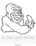 el mono come banana Worksheet