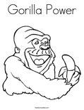 Gorilla PowerColoring Page