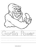 Gorilla Power Worksheet