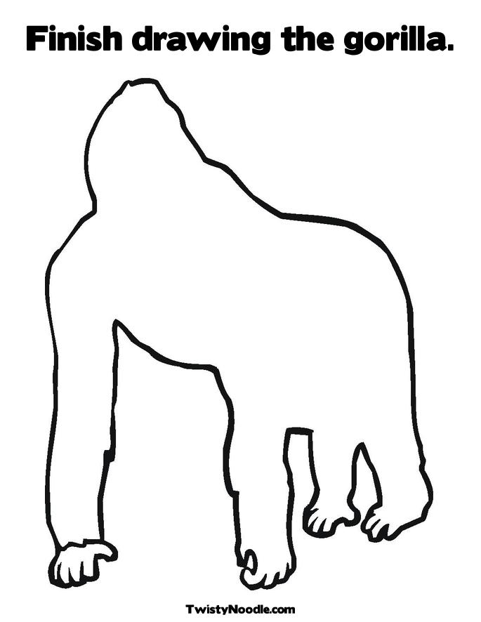 Free Coloring Pages Of Good Night Gorilla