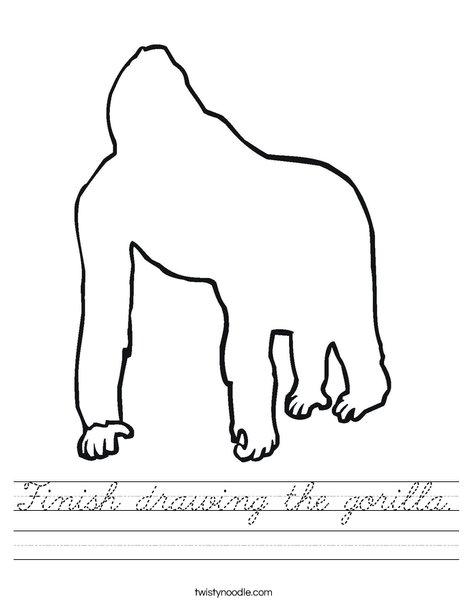 Blank Gorilla Worksheet