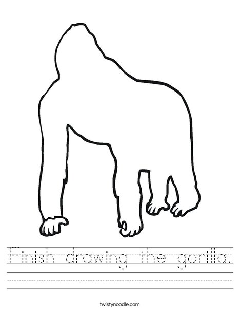 Blank Gorilla Worksheet