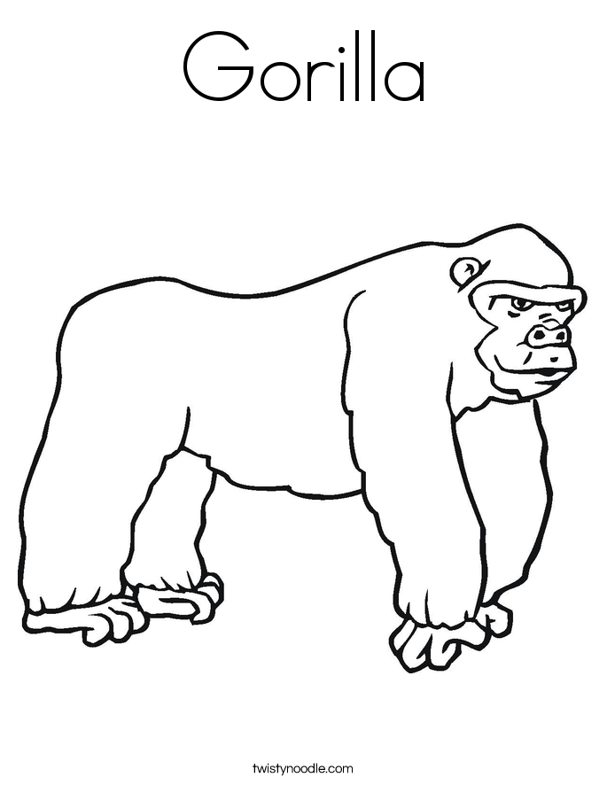 gorilla coloring pages - photo#31