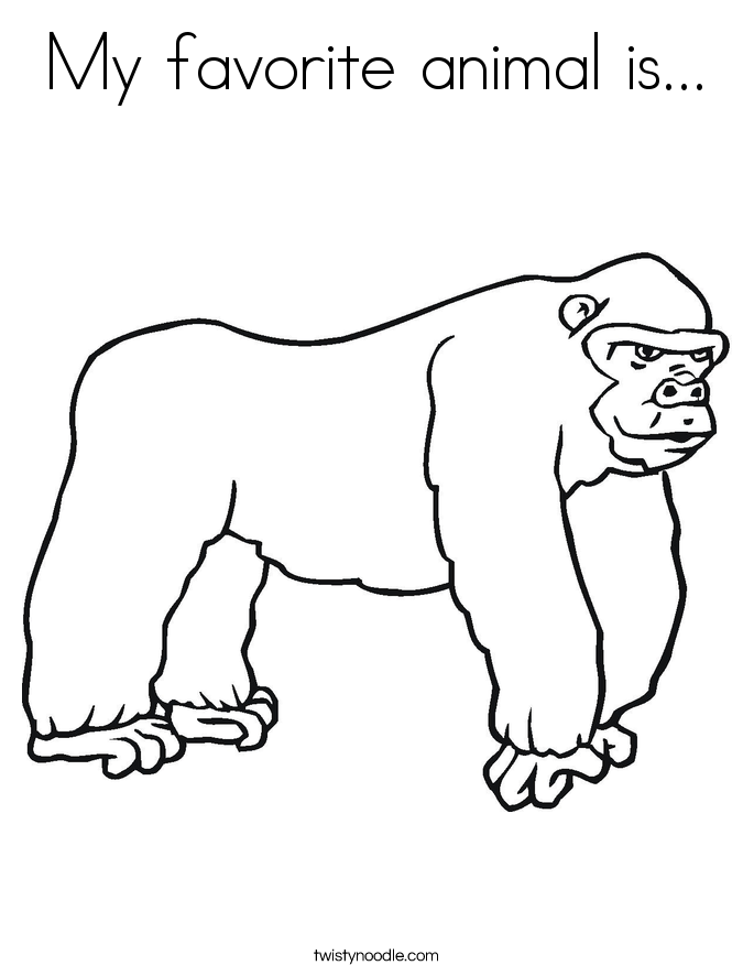 My favorite animal is... Coloring Page