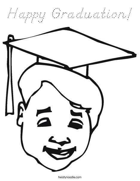 Boy Graduate Coloring Page