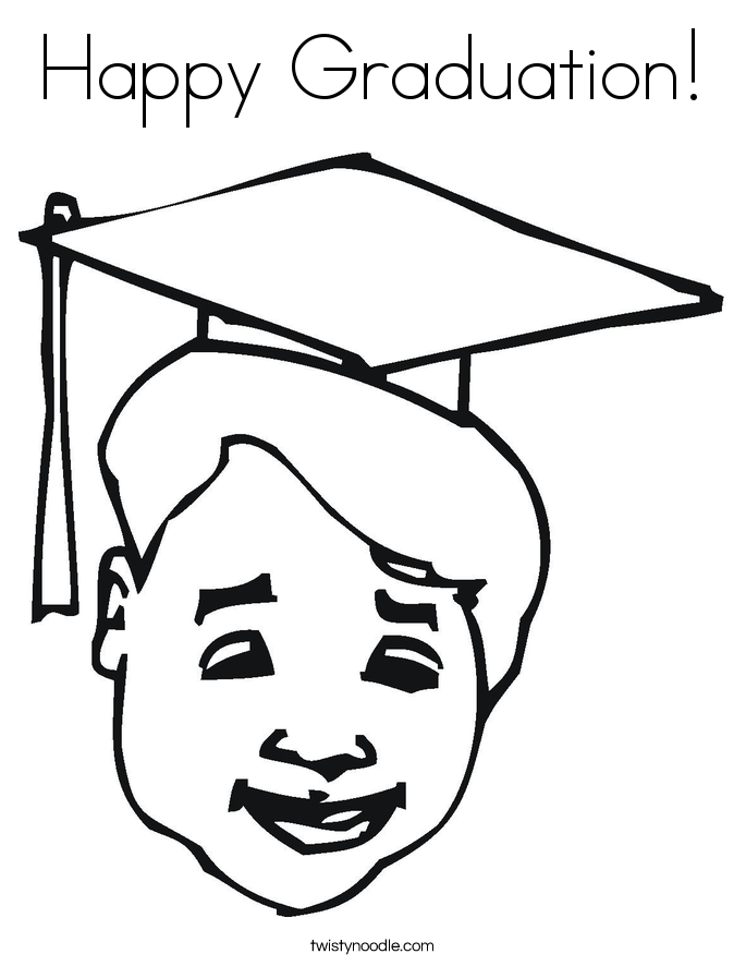 Happy Graduation! Coloring Page