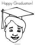 Happy Graduation! Coloring Page
