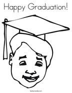 Happy Graduation Coloring Page