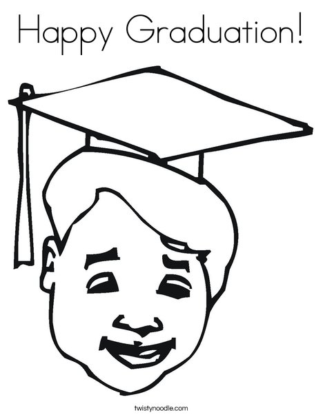 Happy Graduation Coloring Page Twisty Noodle