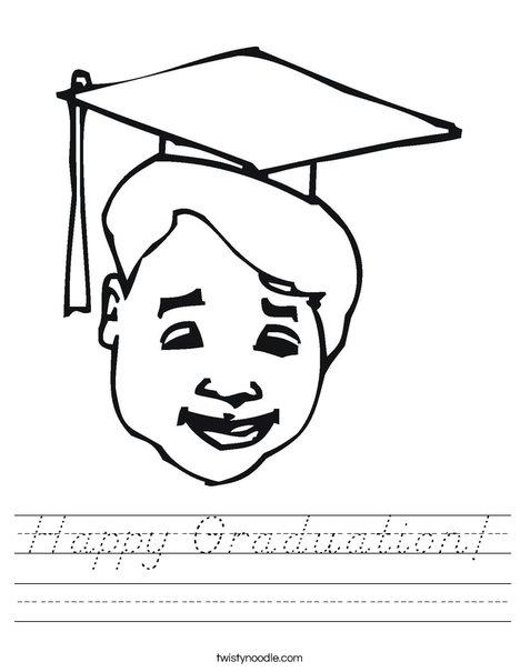 Boy Graduate Worksheet