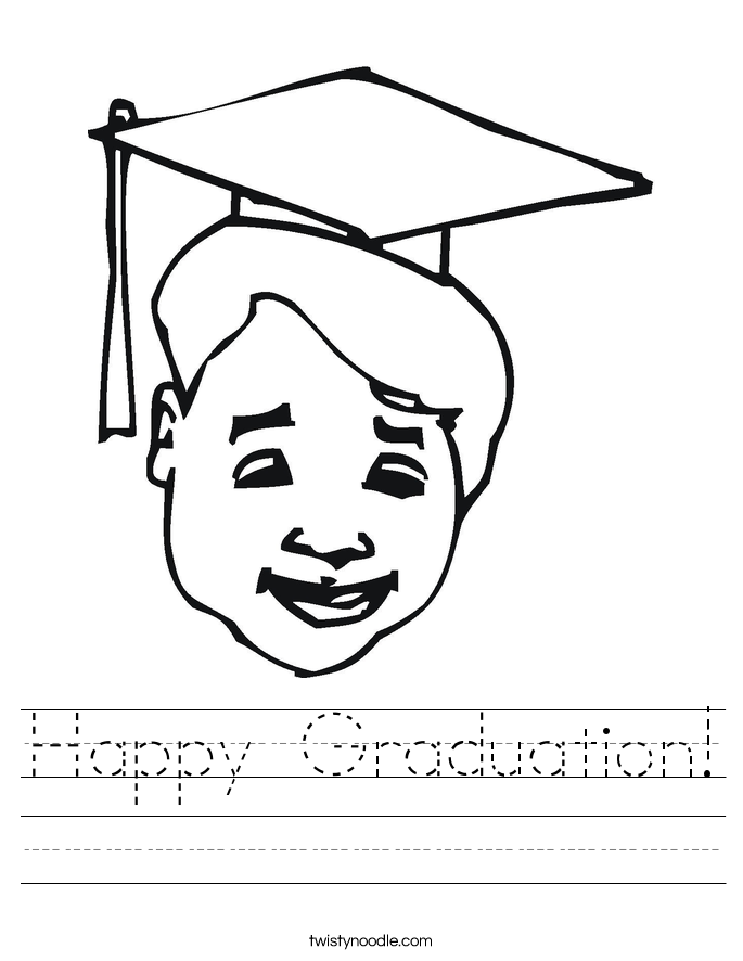 Happy Graduation Worksheet - Twisty Noodle
