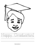 Happy Graduation Handwriting Sheet