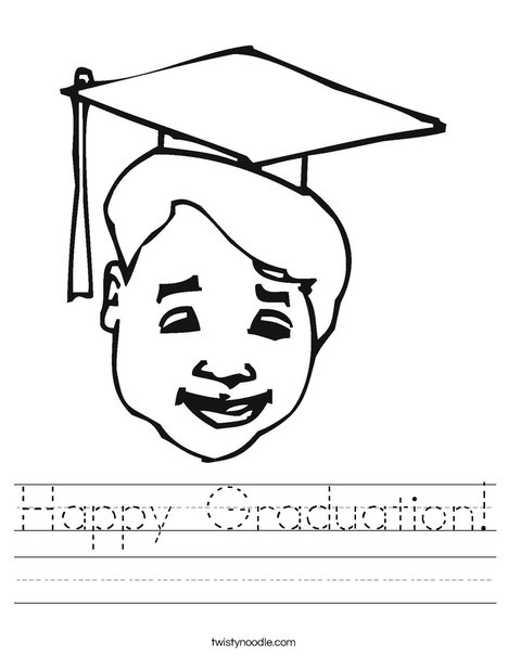 Boy Graduate Worksheet