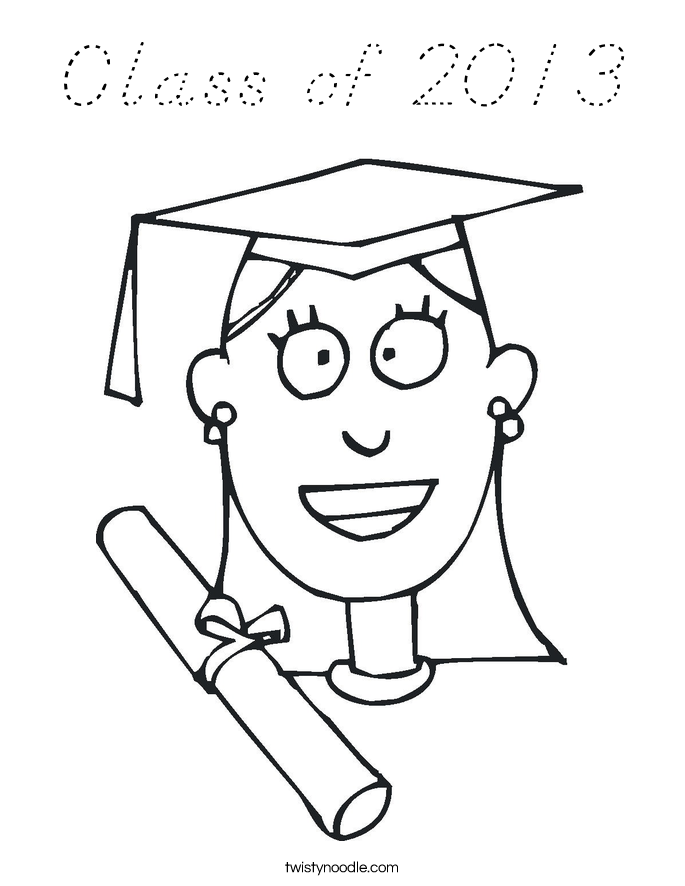 Class of 2013 Coloring Page