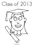 Class of 2013Coloring Page