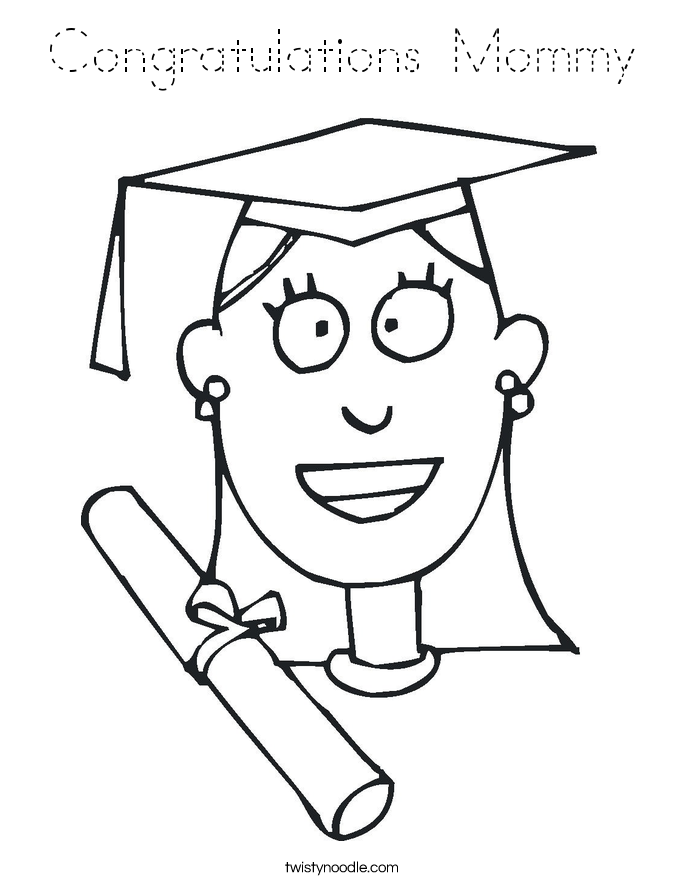 Congratulations Mommy Coloring Page