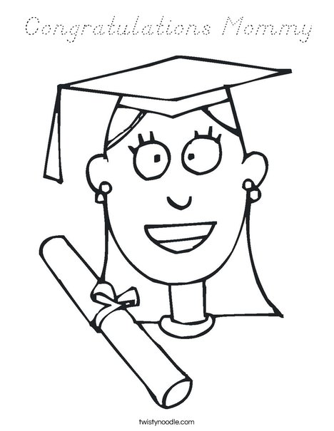 Girl Graduate Coloring Page