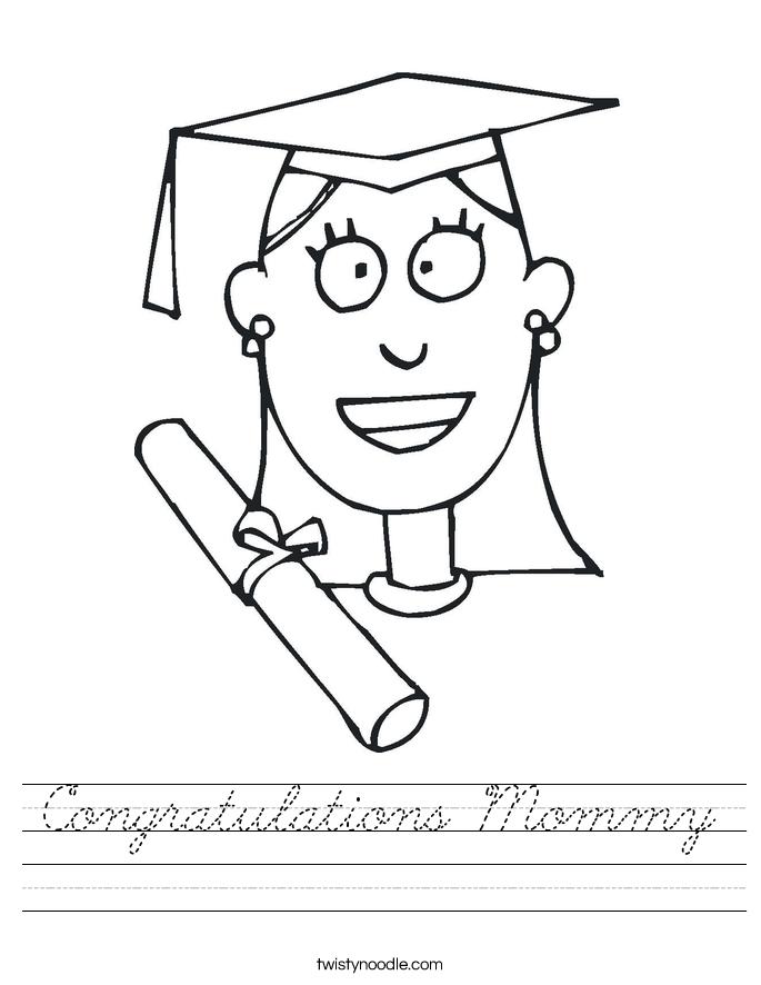 Congratulations Mommy Worksheet