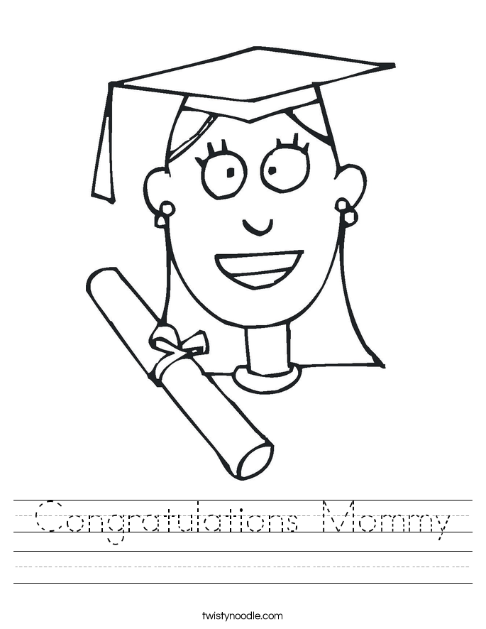 Congratulations Mommy Worksheet