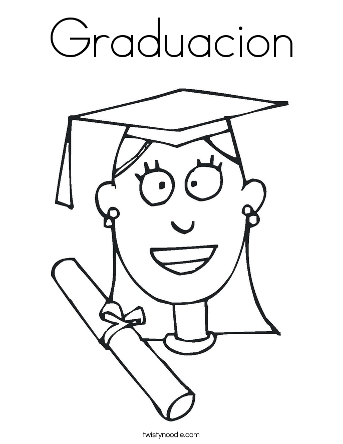 Graduacion Coloring Page