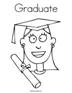 Graduate Coloring Page