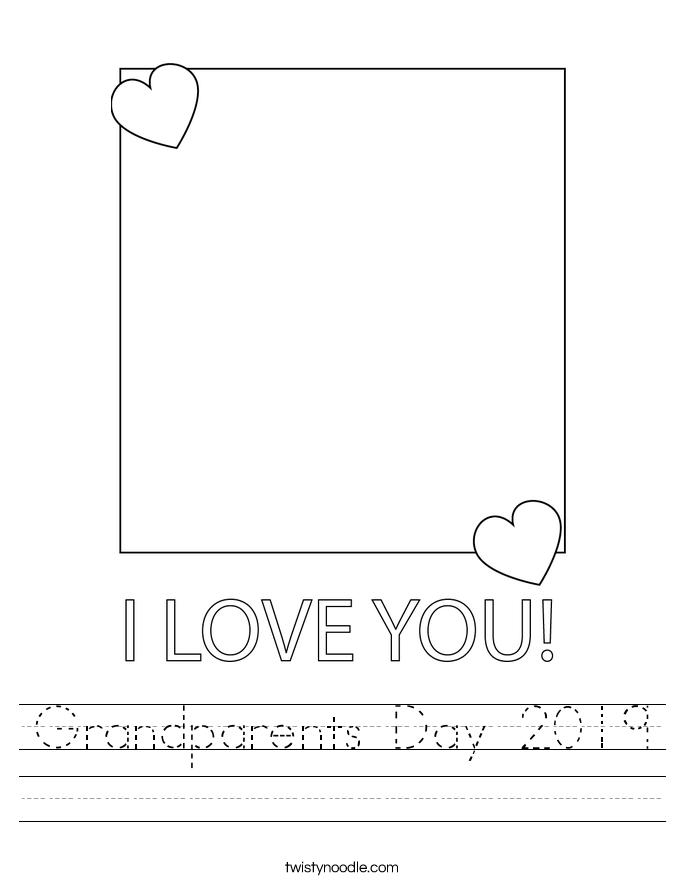Grandparents Day 2019 Worksheet