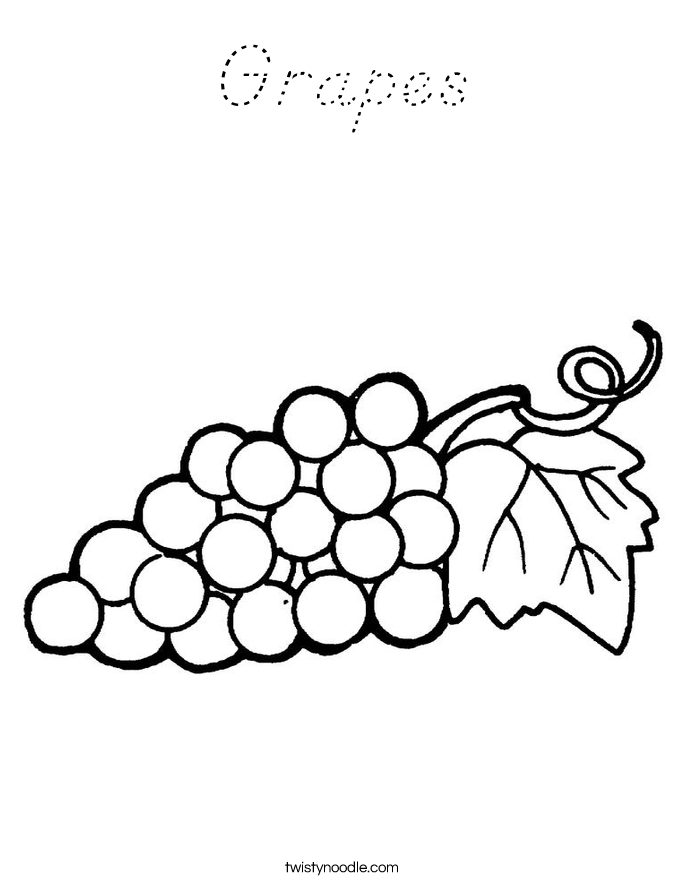 Grapes Coloring Page