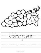 Grapes Handwriting Sheet