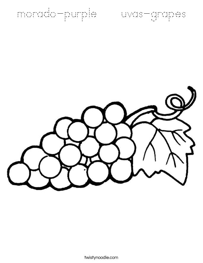 morado-purple    uvas-grapes Coloring Page