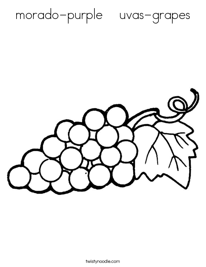 morado-purple    uvas-grapes Coloring Page